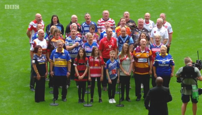 Steve conducting Rugby league choir