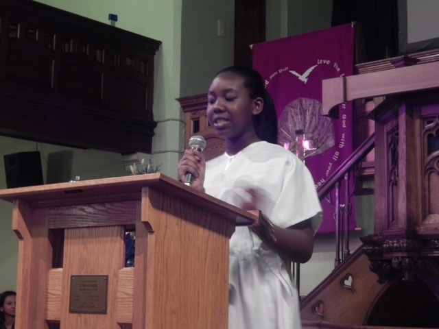 Esther giving testimony