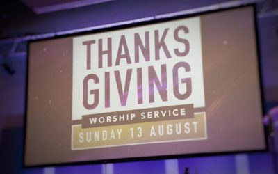 Thanksgiving Worship & Celebration Service Update
