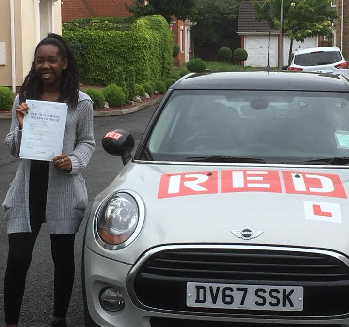 Esther passes her driving test